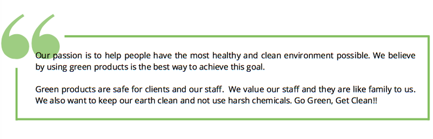 green cleaning mission statement